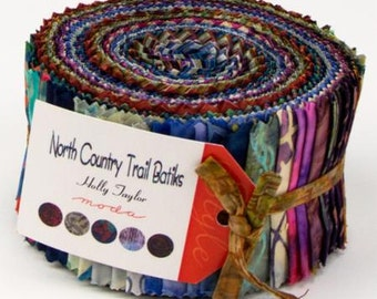 North Country Trail Batiks Jelly Roll by Holly Taylor for Moda