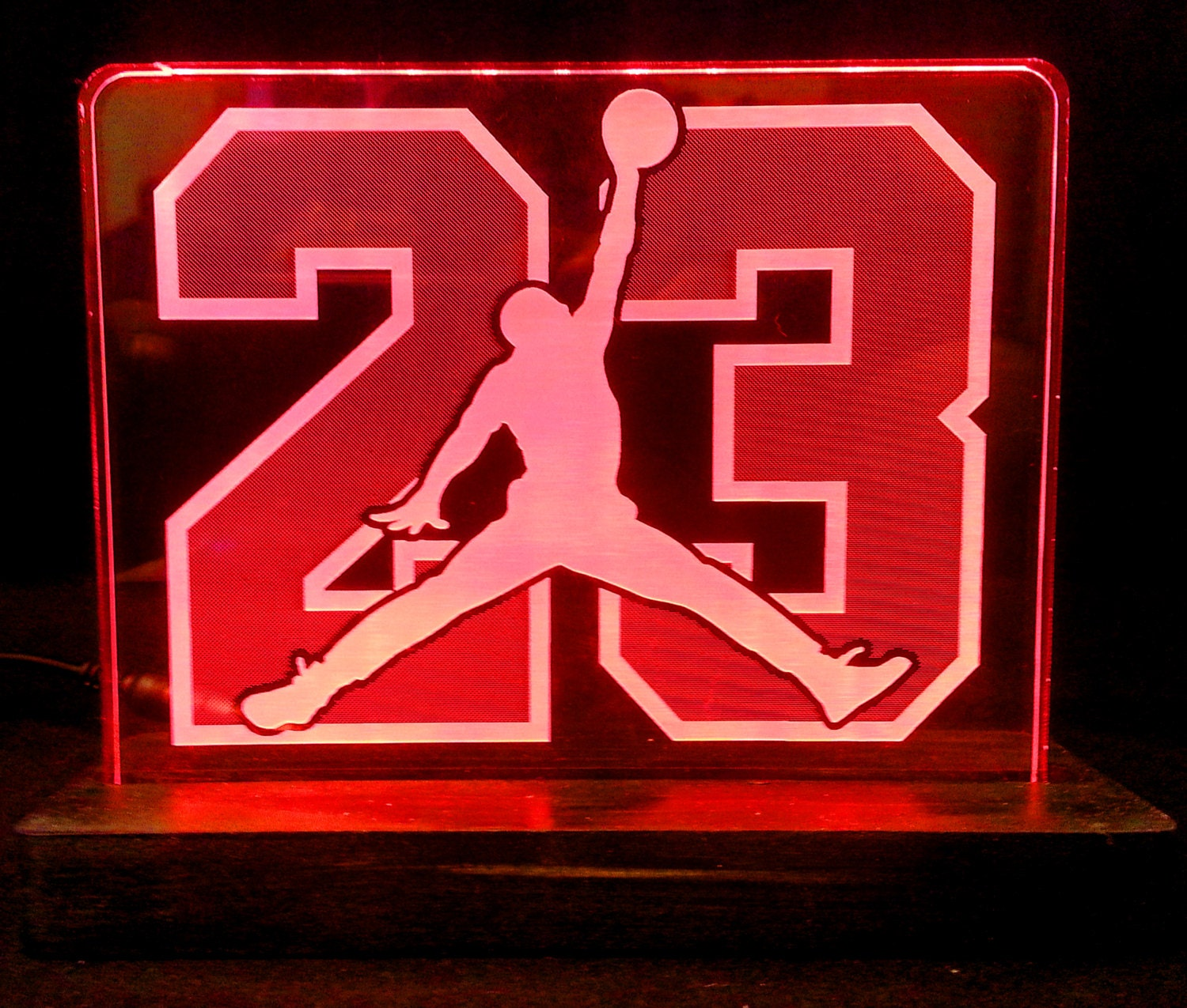 Number Wall Stickers Air Jordan 23 Acrylic Led Light Sign Led Display Sign Led