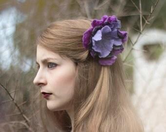 Felt Flower Brooch, Felt Flower Hair Pin, Felted Flower, Flower Hair Accessories, Felt Jewelry, Gifts For Her, Floral Brooch, Floral Pins
