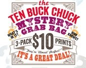 Ten Buck Chuck Mystery Grab Bag 3-Pack - Vintage Dictionary Prints - DPGB001