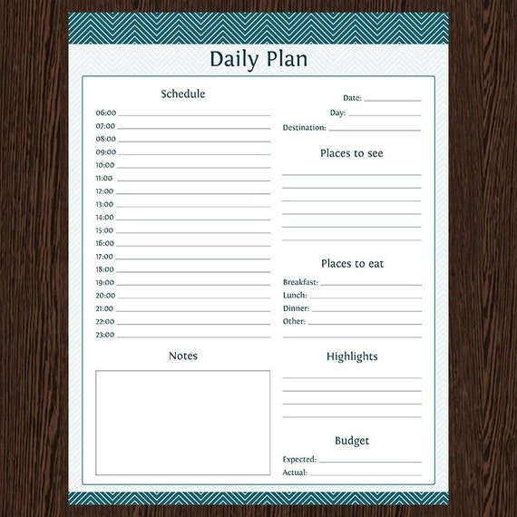 Travel Planner: Daily Planner Fillable Instant by OrganizeLife