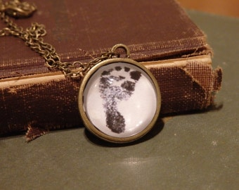 Custom Baby Footprint Necklace