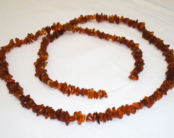 Antique Long Genuine Baltic Natural Amber Necklace 63 gr! Very Beautiful! (62)