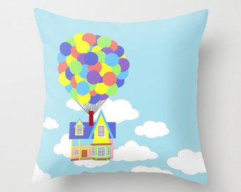Disney's UP! Over Sky and Clouds Decorative Pillow Case