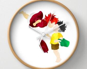 "10"" Studio Ghibli Ponyo and Sosuke Wall Clock, Ponyo Clock"