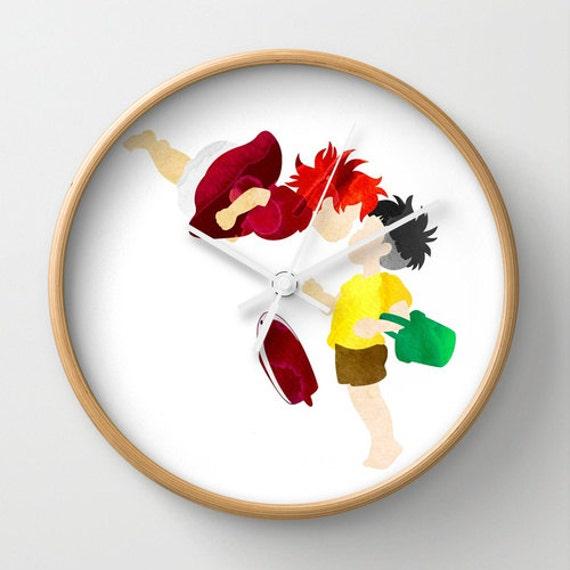 "10"" Studio Ghibli Ponyo and Sosuke Wall Clock"