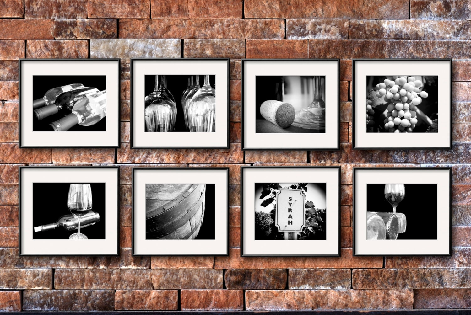 Restaurant Kitchen Photography wine photography set of 8 5x7 or 8x10 prints wine print set