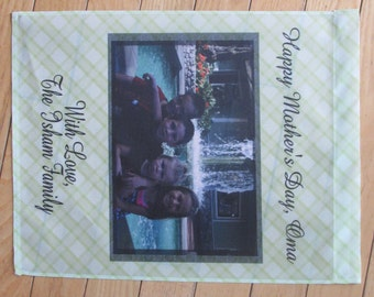 Personalized Photo Garden Flag 11.25 x 14.75 Text of your choice!  Great for Mother's Day Birthday