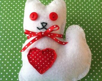 Christmas Kitten Ornament/Doll
