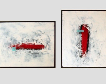 Abstract Painting, Original Painting,Acrylic Painting,Wall Art 32x20x0,75 by M.Schöneberg Free shipping