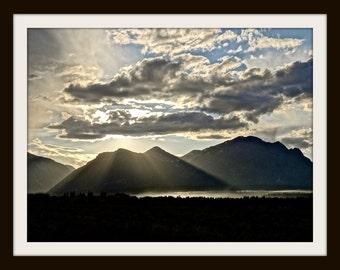 Grand Teton Photo, Digital Photography, Inspirational Photography, Instant Download Photography, Rays of Light Print, Home Decor, Wall Art