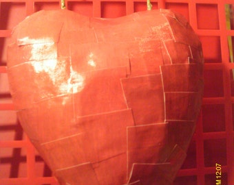Cute Valentine Heart Paper Mache Wall Hanging #8