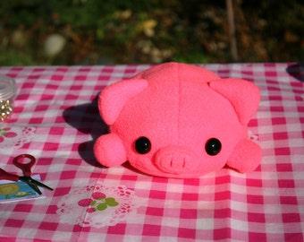 Baby Hot Pink Hand Sewn Pig
