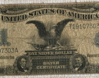 1899 US 1 One Dollar Silver Certificate Black Eagle Speelman and White