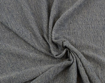Vintage Gray Sweater Knit Fabric - 1 Yard Style 6428