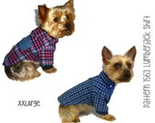 Lumberjack Dog Shirt Pattern 1563 * XXLarge * Dog Clothes Sewing Pattern * Flannel Dog Shirt * Plaid Dog Shirt * Small Dog Clothes