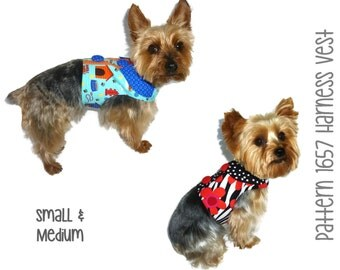 Dog Harness Vest Pattern 1657 * Small & Medium * Dog Clothes Pattern * Dog Harness * Dog Vest Pattern * Dog Shirt * Dog Harness Pattern