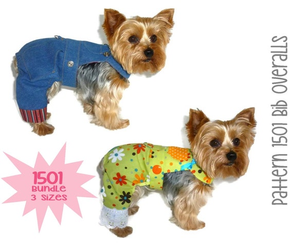 Dog Overalls Pattern 1501 Bundle 3 Sizes Dog by SofiandFriends