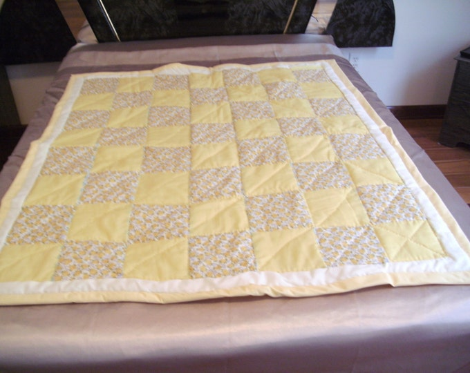 Vintage Four Patch Baby Quilt, Navtical Baby Quilt, Baby Quilt, Baby Quilt, Lap Cover