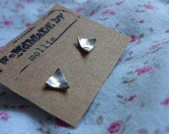 triangle domed earrings