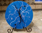Round Blue Stringer Clock