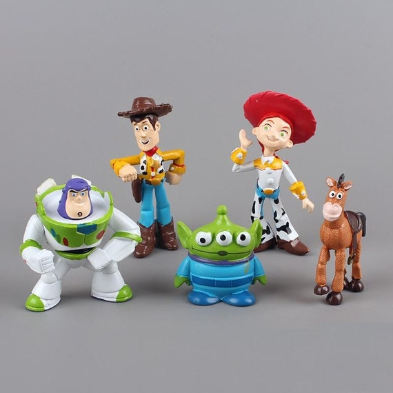 Toy Story CAKE TOPPER Woody Buzz Lightyear Jessie Bullseye 5 Figure ...