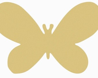 Wide Butterfly Craft  Wooden Unfinished, Large Shape