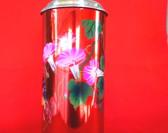 New Old Stock 70's Thermos - Vintage Thermos - Coffee Thermos - Cup Thermos - Tea Thermos - Travel Thermos 38 oz/1.15lt SUNFLOWER  Nr514
