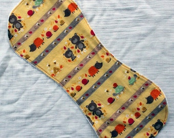 Bear and Bees Contoured Burp Cloth