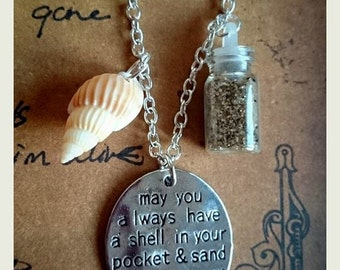 Beach Seaside Inspirational Quote Necklace