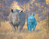 "Earth & Sky - Brothers under the sun  8"" x 10"" Print - 11"" x 14"" with  matting. Blue Rhino"