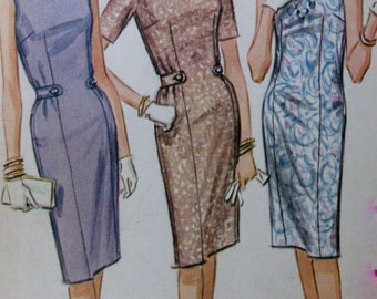 Vintage McCall's 1960s  Juniors  and Misses' easy to Sew Fitted Dress  Pattern #6803 Size 14 bust 34**Epsteam