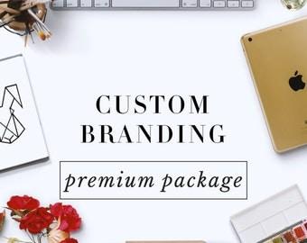 Custom Logo Design and Business Branding Package - Premium - Logo Design - Custom Marketing Set - Photography Branding Package