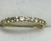 Eternity anniversary .040 Carat  ring 14 k white/yellow/green/rose/gold