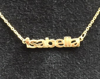 """Name necklace in14k gold 16"""""""