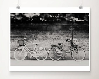 bicycle photograph black and white photography Cambridge photograph bicycle print Cambridge print street photography travel photography
