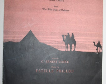 Vintage 1930 Desert Dawn Sheet Music