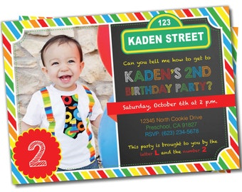 Sesame Street Party Invitations gangcraftnet