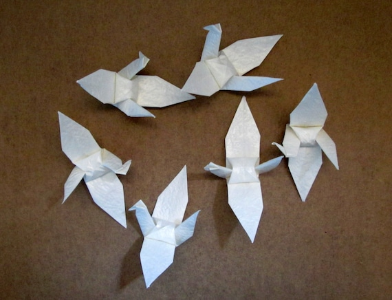 200 Paper Origami Cranes small size 3 x 3 inches 7.5 x 7.5 - photo#33