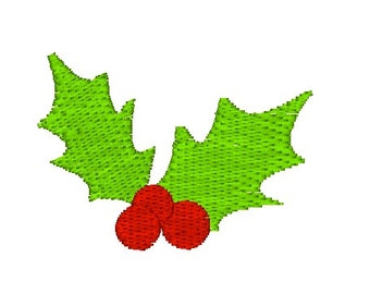 Holly Berry Christmas Machine Embroidery Design - Christmas embroidery design - holly embroidery
