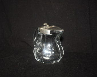 Antique Small EAPG Glass Syrup Creamer Pitcher