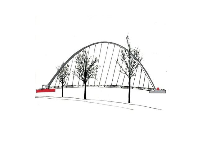 Limited Edition Giclee Print - Millennium Bridge, Newcastle & Gateshead.