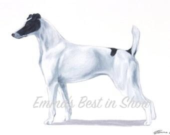 Smooth Fox Terrier Dog - Archival Fine Art Print - AKC Best in Show Champion - Breed Standard - Terrier Group - Original Art Print
