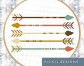 Five Arrows Geometric Minimalist Modern Cross Stitch Pattern PDF