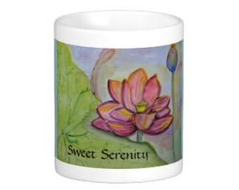 Sweet Serenity Mug, Sweet Soul Art original art design