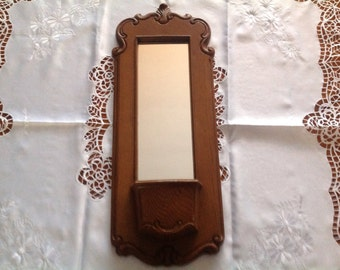 Homco Wall Pocket and Mirror Vintage Wall Pocket With Mirror
