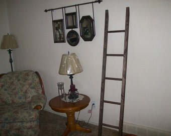 """6 Foot Leaning Ladder / Quilt / Blanket / Towel / Pot / Scarf / Necklace Rack, Only """"1"""" to Sale!"""