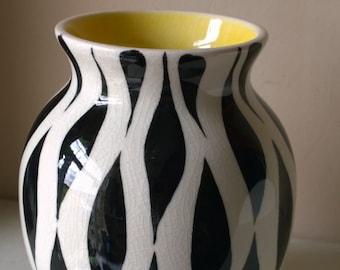 Sandland Zebrette vase Lancaster & Sandland ware rare 1950's design