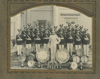 Beacon New York Chanler Drum music band antique photo
