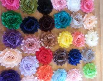 shabby flowers lot of 50 random colours